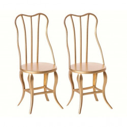 Maileg, vintage chairs micro 2-pack