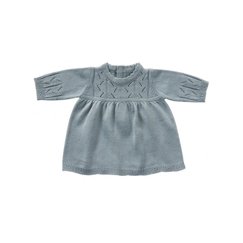 Long sleeve dress, Blue knit