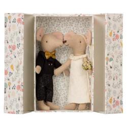 Maileg - Möss som bröllopspar i tändsticksask