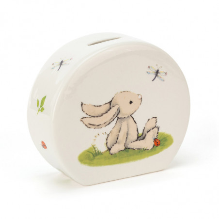 Jellycat - Bashful Bunny Ceramic Money Box