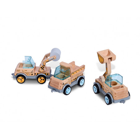 BS Toys - Trälastbil med tippflak