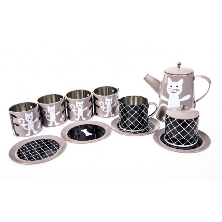 Pellianni - Tin Tea Set Grey