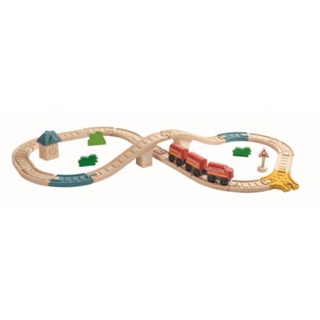 Plan Toys - Järnvägsåtta