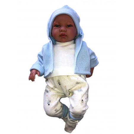 Llorens spansk docka - Kläder - Myskläder med blå kofta