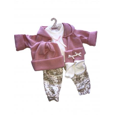 Llorens spansk docka - Kläder - Pajamas med rosa tröja