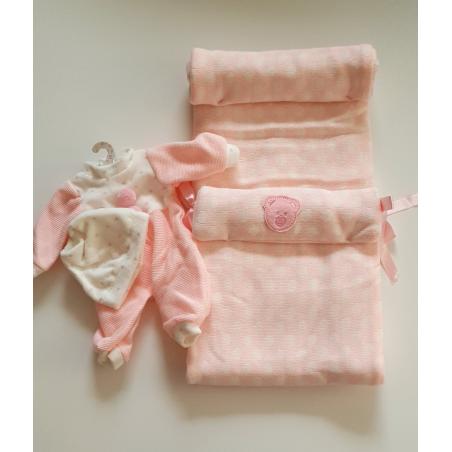 Llorens spansk docka - Kläder - Sparkdräkt med rosa bädd