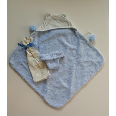 Llorens spansk docka - Kläder - Blå filt, badbyxa och snuttefilt