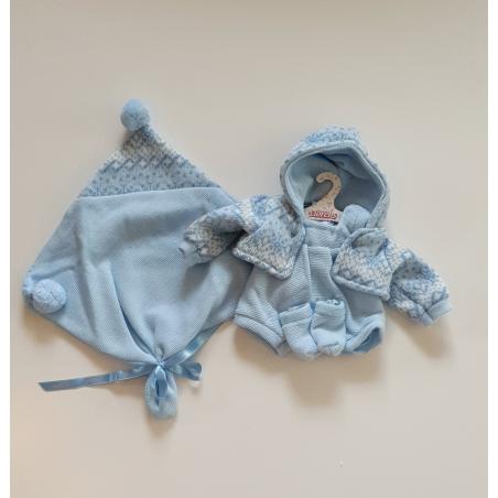 Llorens spansk docka - Kläder - Sparkdräkt ärmlös med mönstrad kofta