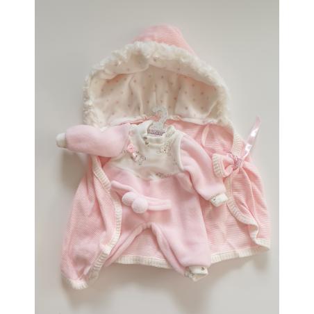Llorens spansk docka - Kläder - Sparkdräkt med rosa pannband och badcape
