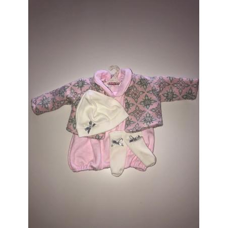 Llorens spansk docka - Kläder - Rosa dress med stickad kofta